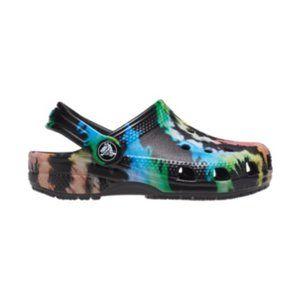 NEW Crocs Kids' Classic Tie-Dye Graphic Clog